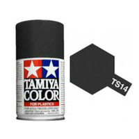 TAMIYA TS 14 BLACK PAINT SPRAY FOR PLASTICS