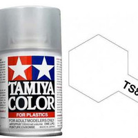 TAMIYA 85080 TS 80 FLAT CLEAR PAINT SPRAY FOR PLASTICS 100ML