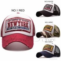 Topi Trucker Denim Fashion / Jual Topi Jaring Baseball Caps Import