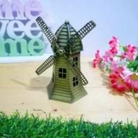 FRIEZASHOP # Miniatur kincir Holland Belanda 12 cm
