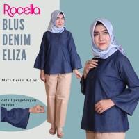 Blus Denim Eliza by Rocella | Atasan Denim - Blouse Casual - L-XL