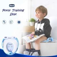 Alas Duduk Kloset Anak Potty Training Chicco Original Potty Seat Murah - Biru Muda