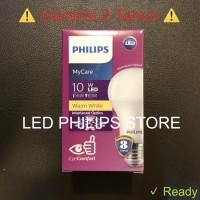 Lampu Bohlam LED Philips 10 Watt Warm White/Kuning (10W 10Watt 10 W)