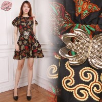 Dress Midi Batik Anne Short Dress Wanita