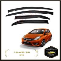 Talang Air Mobil Brio / Car Side Visor Brio - Model Slim + 3M