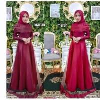 Maxi dress brokat/baju pesta/longdres remaja/gamis muslimah murah/dres