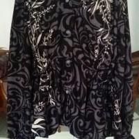 Preloved baju motif batik warna hitam