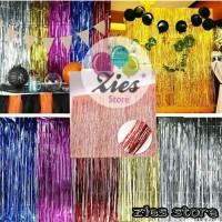 Tirai foil rumbai / Curtain selinger foil / backdrop foil