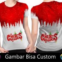 Kaos Cewek Fullprint Merry Christmas ART1