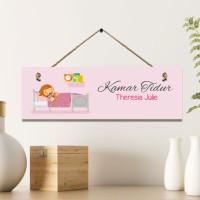 Home Decor Hiasan Gantungan Pintu Kamar Tidur Custom Nama - G016