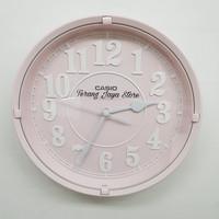 Jam Dinding Casio IQ-62 Wall Clock Casio IQ 62 Original 100% (Pink)