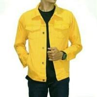 jaket jeans warna kuning pria wanita / jaket levis / jaket levelup