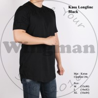 XYZ Kaos Longline Polos Pria Lengan Pendek 3 Warna
