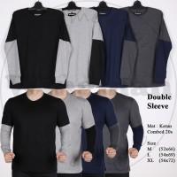 XYZ Kaos Double Sleeve Polos Pria 4 Warna M L XL