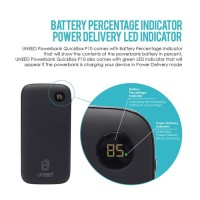 UNEED QuickBox P10 Powerbank 10000mAh with PD & QC 3.0 - UPB102PD