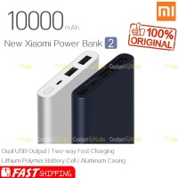 Xiaomi Mi PowerBank New 2 10000mAh with 2 USB Port Quick Charge
