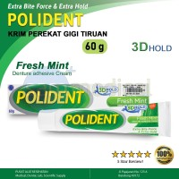 Polident Dental Adhesive Cream Fresh Mint / Perekat Gigi Tiruan 60g