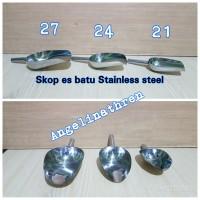Skop es batu stainless steel - sendok es batu - sekop es batu ss Uk 24