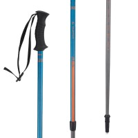 Tongkat trekking hiking outdoor ARPENAZ JUNIOR POLE BLUE
