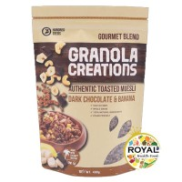 Granola Creation 400 GR Dark Chocolate & Banana- GOURMET MIX