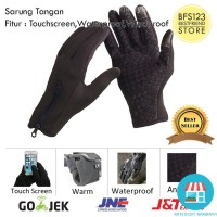 Sarung Tangan Motor & Sepeda Touchscreen Waterproof WindProof