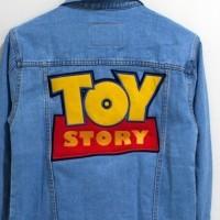 jaket jeans oversize boy friend toy story edition
