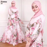 Gamis Maxi Dress Emma 91 - Gamis Syari Baju Gamis Wanita Long Dress