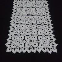 Taplak meja rajut doily crochet katun square 14