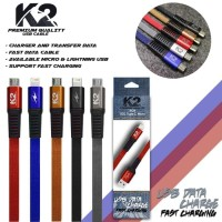 Kabel Data K2 PREMIUM QUALITY for Micro USB Goof Quality Fast Charg 2A
