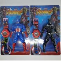 Jam Tangan Anak Plus Mainan Robot Motif Avenger Batman Superman