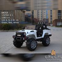Mobil Mainan Aki Unikid Jeep 4 lamp back UK713 / mobil aki