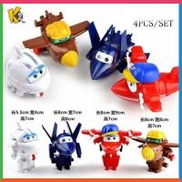 Mainan Transformasi Pesawat Ke Robot Super Wings 4 Pcs / 1 Set
