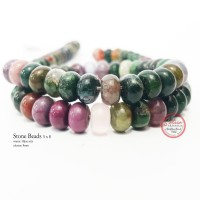 Batu Alam Natural Stone Beads 5x8 hijau mix