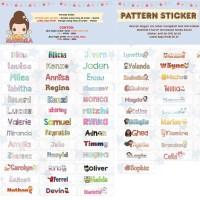 Sticker anti air or Label baju tinggal di setrika