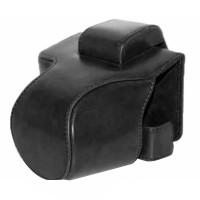 Canon EOS M50 M5 Leather Bag / Case / Tas Kamera 15-45 MM - Black