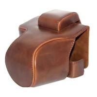 Canon EOS M50 M5 Leather Bag / Case / Tas Kamera 15-45 MM - Brown