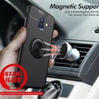 Samsung Galaxy A6 A6plus Autofocus Magnetic Ring Case Cover casing