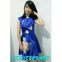 Dress Party Cheongsam Chinese Imlek Blue
