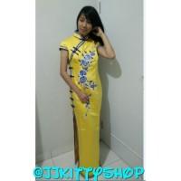 Dress Yellow Imlek Xincia Cheongsam Long