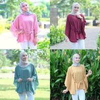 Atasan Wanita Clove Blouse Tunik Baju Muslim Blus Muslim - Kuning