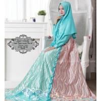 Baju Muslim Gamis Syari Pesta Wanita Satin Cindy Terbaru