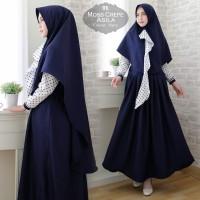Baju Muslim Gamis Syari Pesta Wanita Moscrepe Asila Terbaru