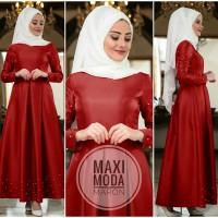 Baju Muslim Gamis Syari Pesta Wanita Maxi Moda Terbaru