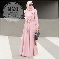 Baju Muslim Gamis Syari Pesta Wanita Maxi Queenarsy Terbaru