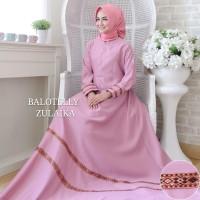 Baju Muslim Gamis Syari Pesta Wanita Maxi Zulaika Terbaru