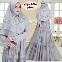 Baju Muslim Gamis Syari Pesta Wanita Wafel Syabila Terbaru