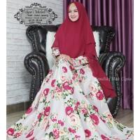 Baju Muslim Gamis Syari Pesta Wanita Katun Michell Terbaru
