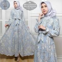 Baju Muslim Gamis Syari Pesta Wanita Salur Bunga Terbaru