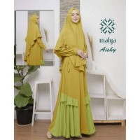 Baju Muslim Gamis Syari Pesta Wanita Mosscrepe Aishy Terbaru