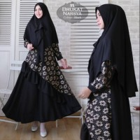 Baju Muslim Gamis Syari Pesta Wanita Brukat Narsya Terbaru